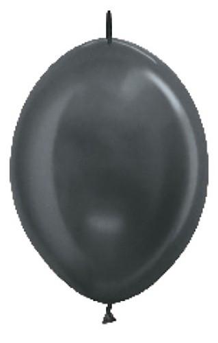 Balon z łącznikiem 12 metalik grafitowy