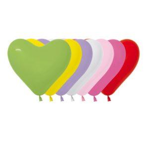 Balon serce 6 miks kolorów