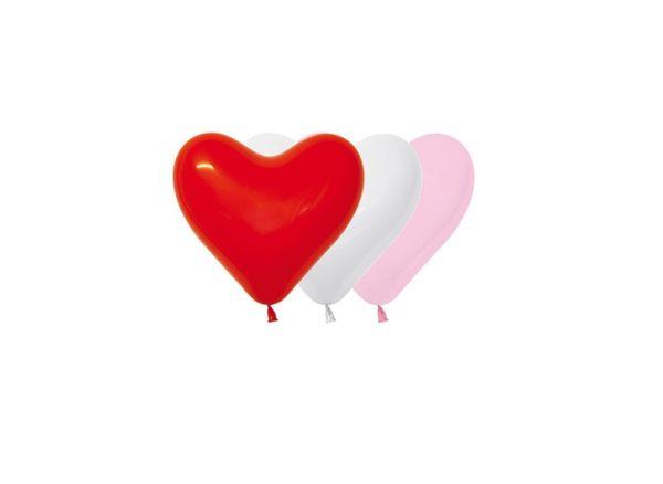 """HRT6 001 Balon serce 6"""" miks love (czerwony, różowy, biały)  Sklep Balonolandia"""