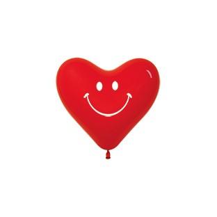 Balon serce 6 z nadrukiem uśmiech