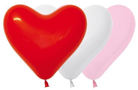 """HRT12 001 Balon serce 12"""" miks love (biały, czerwony, różowy)  Sklep Balonolandia"""