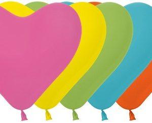 Balon serce 12 miks tropikalny