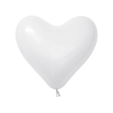 Balon serce 12 biały
