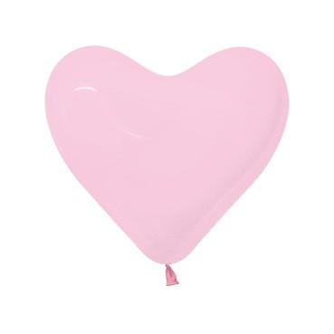 Balon serce 12 różowy