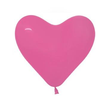 Balon serce 12 fuksja