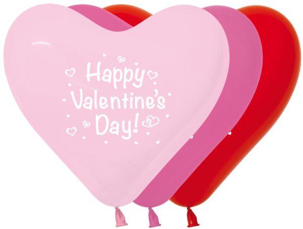 Balon serce 12 Happy Valentine Day
