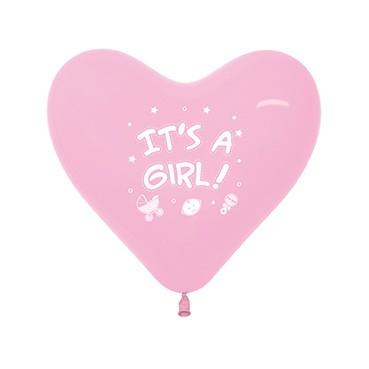 Balon serce 12 It's A Girl