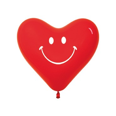 "HRT12 SMILEY Balon serce 12"" nadr. :)  Sklep Balonolandia"