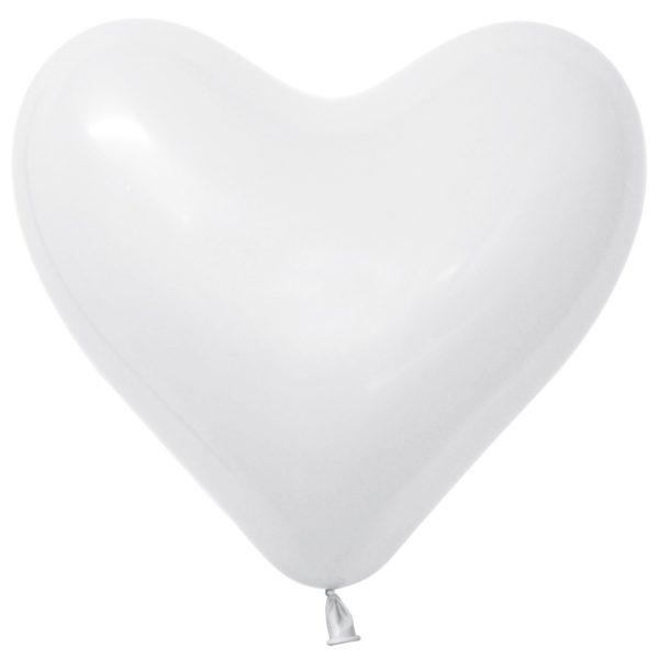 Balon serce 16 biały