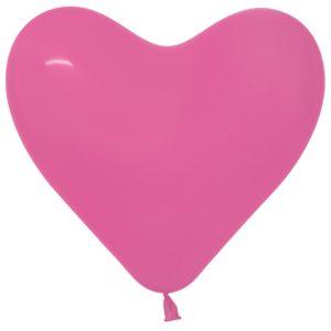 Balon serce 16 fuksja