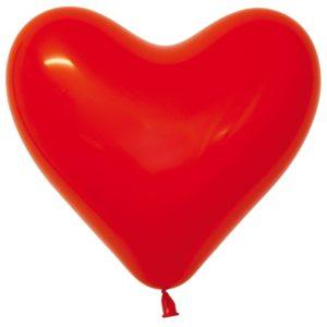 Balon serce 16 czerwony
