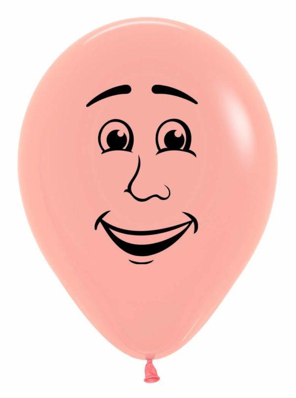 "R12 MAN Balon męska twarz 12"" cielisty  Sklep Balonolandia"