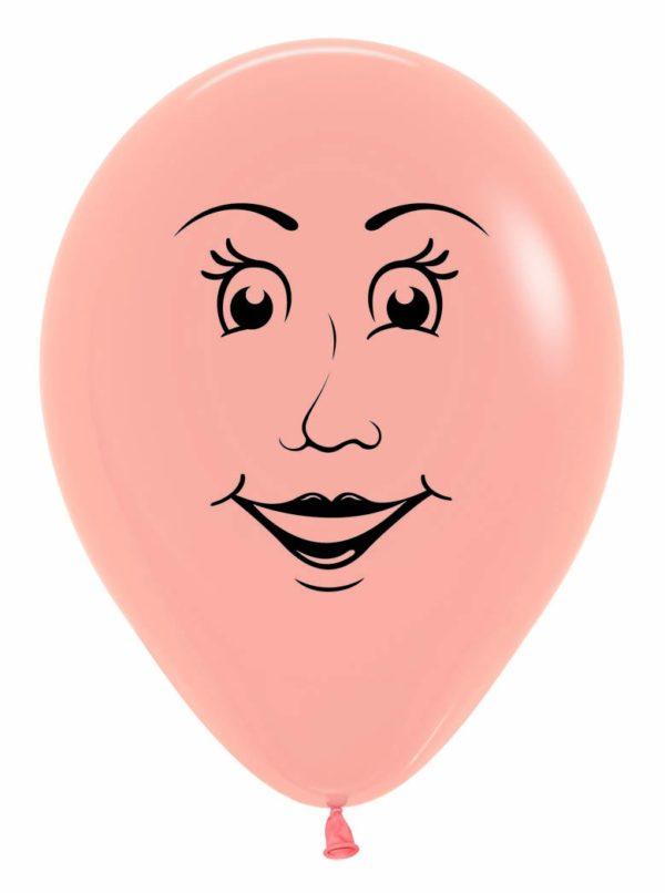 "R12 WOMAN Balon damska twarz 12"" cielisty Sklep Balonolandia"