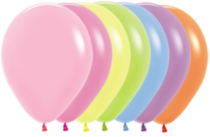 "R12 200 Balon okrągły 12"" Neon Mix  Sklep Balonolandia"