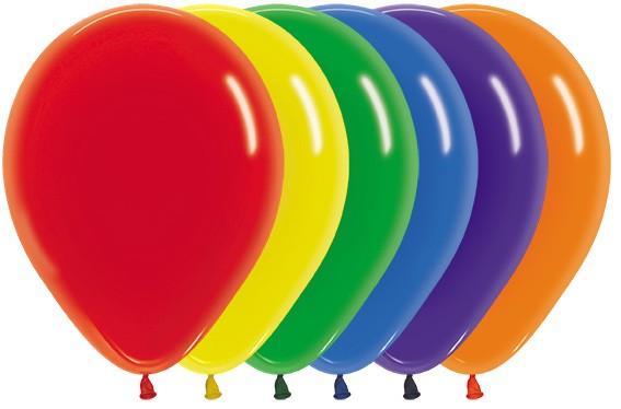 Balon okrągły 12 Crystal Mix