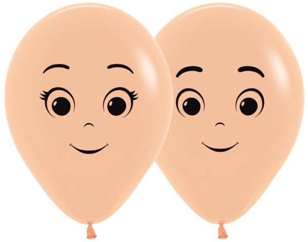 "R12 FACE Balon twarze 12"" cielisty  Sklep Balonolandia"