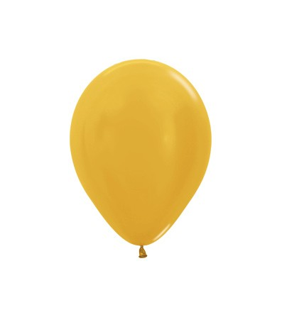 Balon okrągły 10 metalik złoty