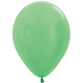 """R12 430 Balon okrągły 12"""" perłowy zielony Sklep Balonolandia"""