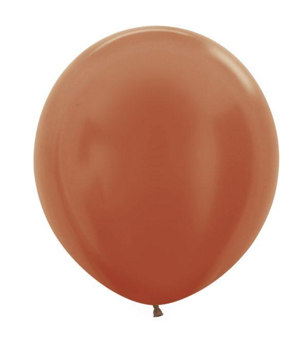 Balon kulisty 16 metalik miedziany