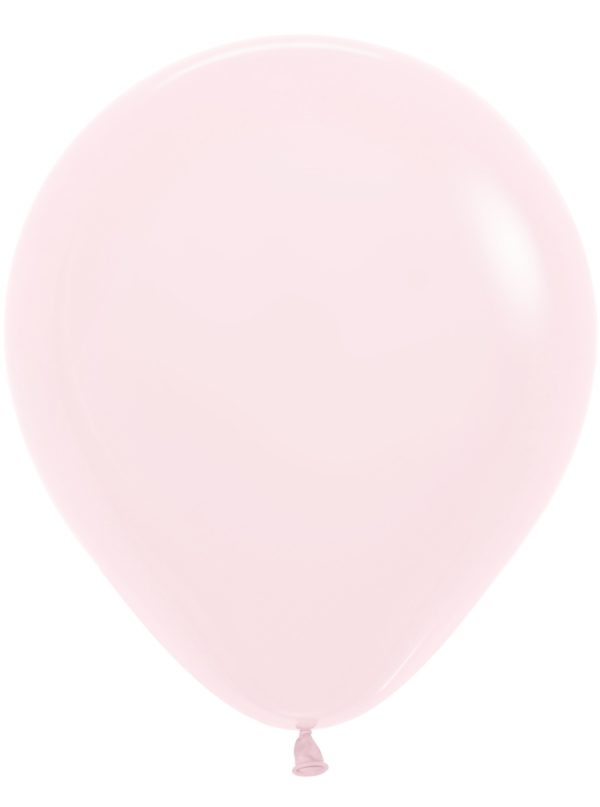 "R18 609 Balon okrągły 18"" pastel mat różowy Sklep Balonolandia"