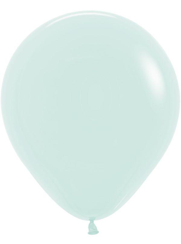 """R18 630 Balon okrągły 18"""" pastel mat zielony  Sklep Balonolandia"""