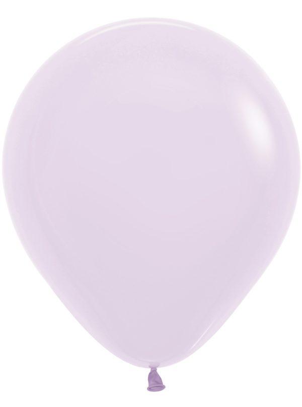 "R18 650 Balon okrągły 18"" pastel mat lila Balonolandia 4Pro"