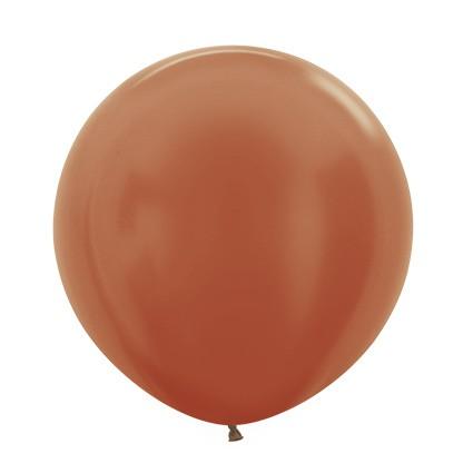 Balon okrągły 24 metalik miedziany