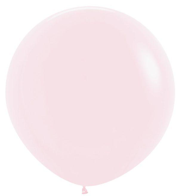 Balon kulisty 36 pastel mat różowy