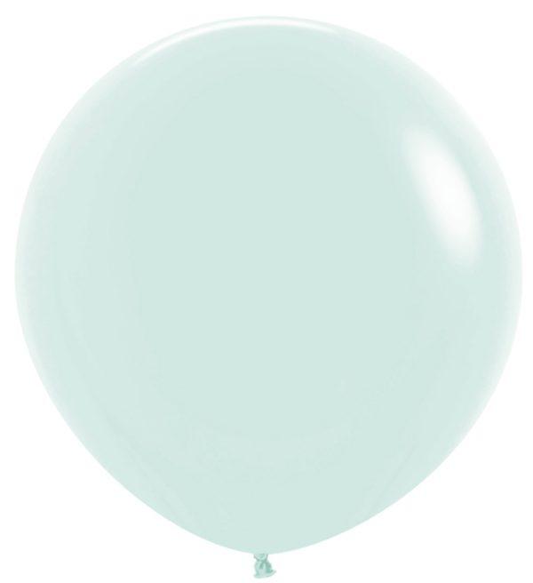 Balon kulisty 36 pastel mat zielony