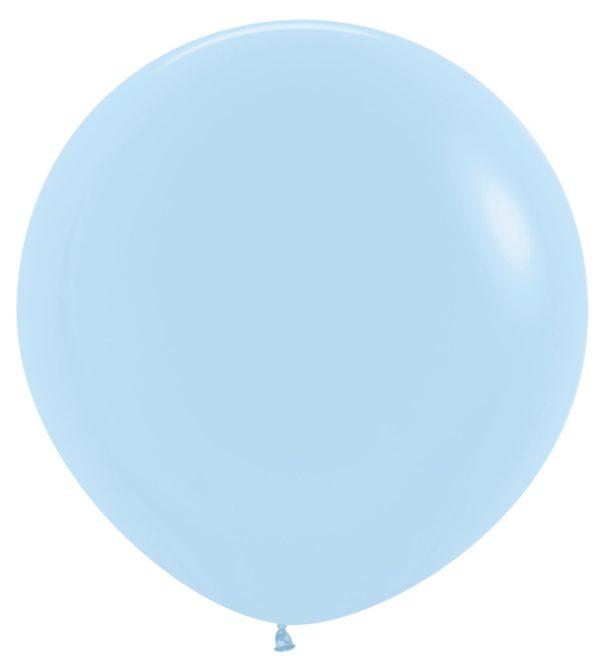 Balon kulisty 36 pastel mat niebieski