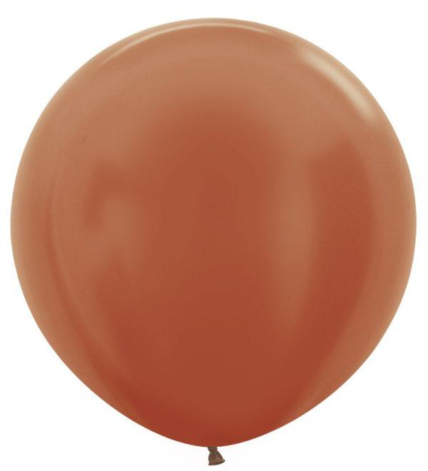 Balon kulisty 36 metalik miedziany