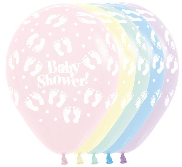 R12SHOWER600 Baby Shower Footprints  Sklep Balonolandia