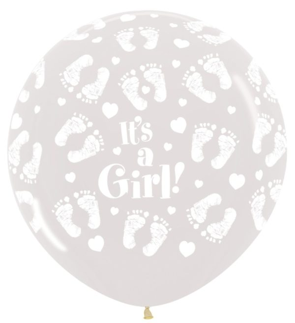 R36GF390 It's a Girl Footprint  Sklep Balonolandia
