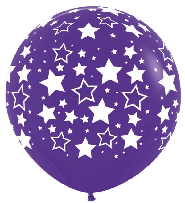 R36 BS051 Bold Stars fioletowy Sklep Balonolandia