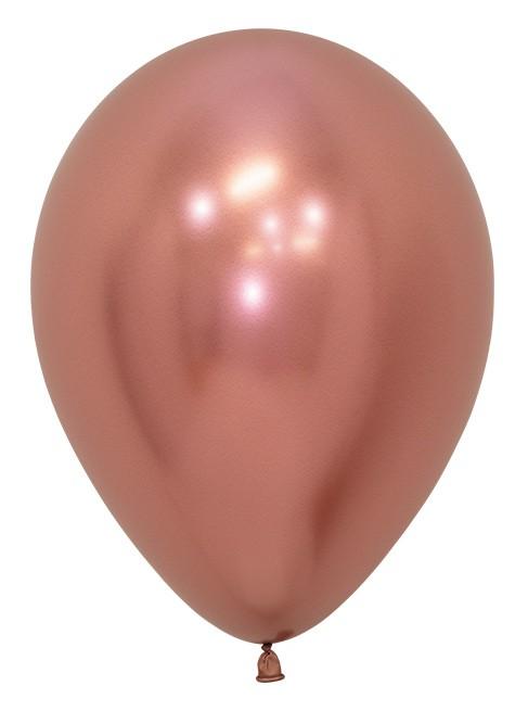 """R12 968 Balon okrągły 12"""" reflex różowe złoto Sklep Balonolandia"""