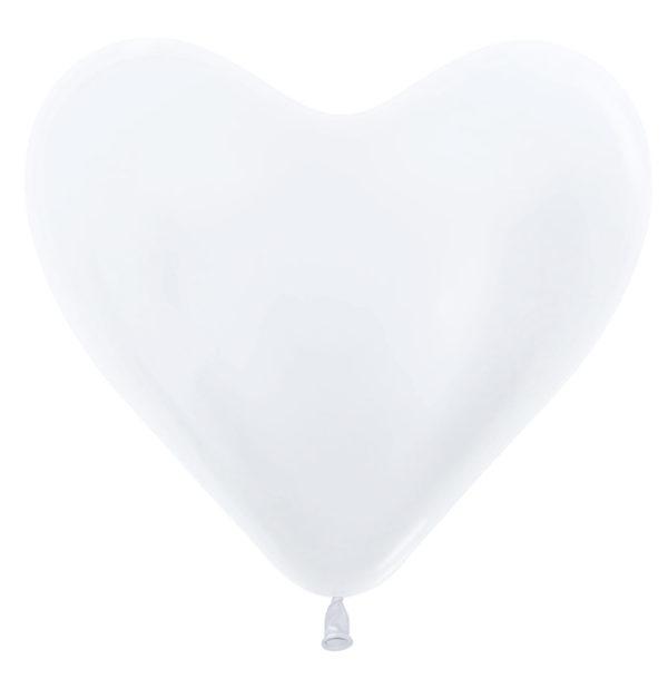 Balon serce 14 perłowe