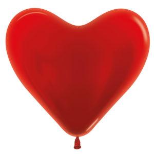 Balon serce 14 metaliczne czerwone
