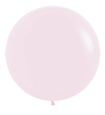 Balon okrągły 24 różowy Pastel Matte