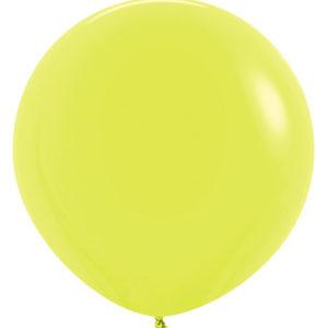 Balon okrągły 24 żółty neon