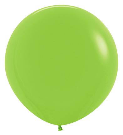Balon okrągły 24 zielony neon