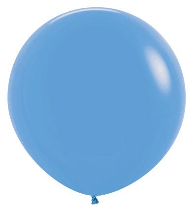 Balon okrągły 24 niebieski neon