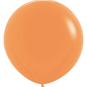 Balon okrągły 24 pomarańczowy neon