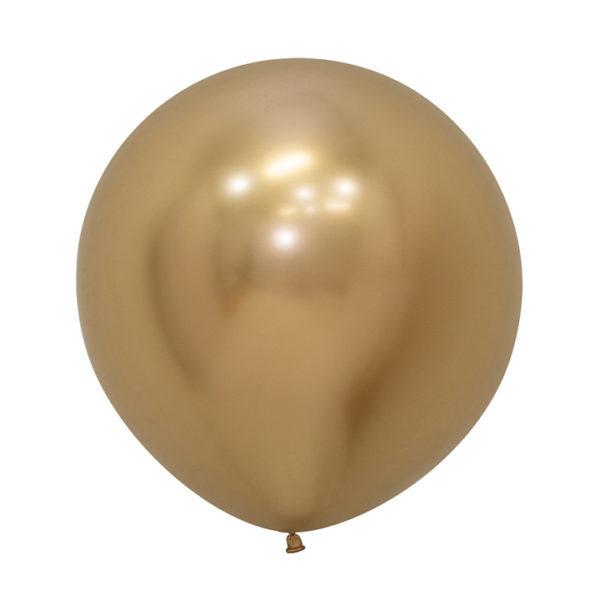 Balon kulisty 24 reflex złoty