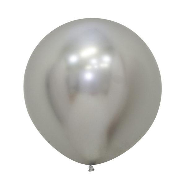 Balon kulisty 24 reflex srebrny