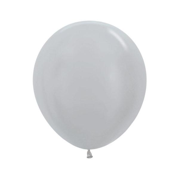 """Srebrny 18"""" Sempertex w Balonolandia"""