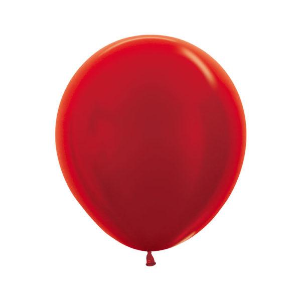 """R18 515 Balon okrągły 18"""" metalik czerwony Sklep Balonolandia"""