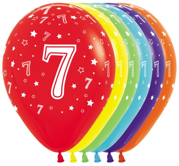 R12 7 Balon z nadrukiem 7  Sklep Balonolandia