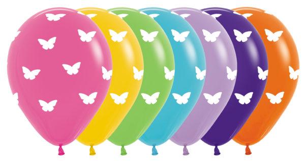 R12 BUTTF Balon z nadrukiem motylki Balonolandia 4Pro