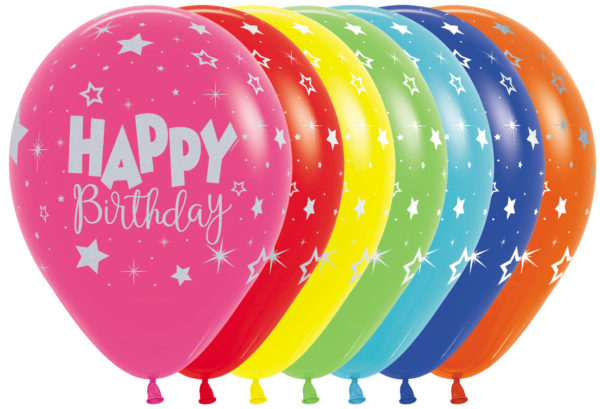 """R12 HBFAN Balon okrągły 12"""" Happy Birthday Sklep Balonolandia"""