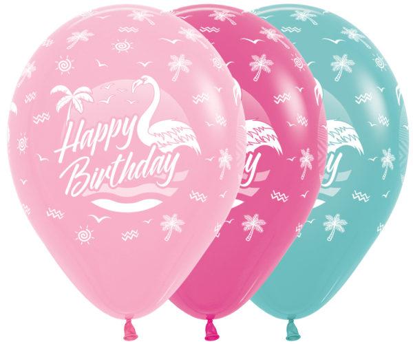 Sempertex Happy Birthday Flamingo w Balonolandia